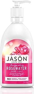 JASON Invigorating Rosewater Hand Soap, 16 Ounce Bottle