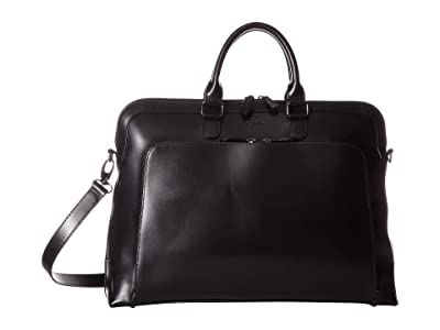 Lodis Accessories Audrey RFID Brera Briefcase With Laptop Pocket (Black/Black) Briefcase Bags