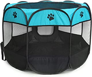 BEIKOTT Pet Playpen, Foldable Dog Playpens, Portable Exercise Kennel Tent for Puppies/Dogs/Cats/Rabbits, Dog Play Tent wit...