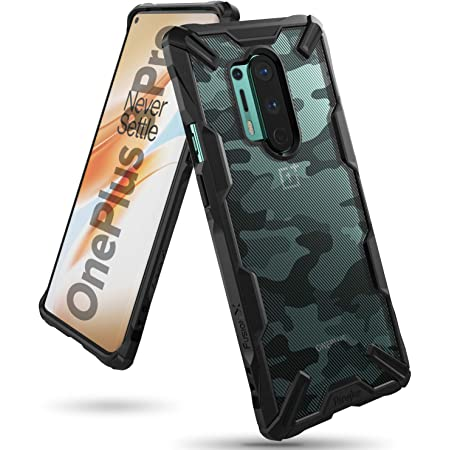 ringke fusion-x for oneplus 8 pro case back cover, [military drop tested] hard pc back tpu bumper impact resistant protection for oneplus 8 pro back cover case - camo black - Black
