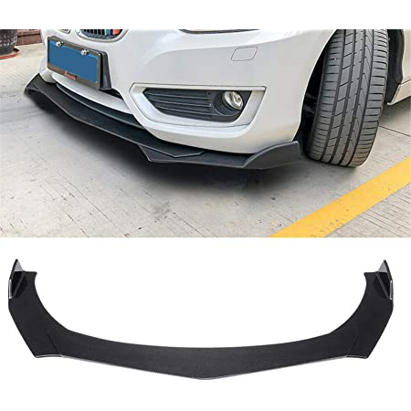 labwork Universal Car Front Bumper Lip Chin Spoiler Splitter Body Kit Carbon Fiber Style