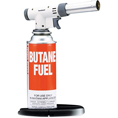 Iwatani International Iwatani PRO2 Culinary Butane Torch for sous vide, crème brulee, pastries, camping and so much more