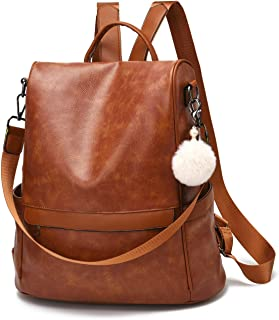 Women Backpack Purse PU Leather Anti-theft Casual...