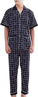 Men's Sleepwear Men's Pajama Set Short Sleeve Top Comfortable Sizes Pants Long Cozy Cotton Homewear Bathing Pajamas Clothing