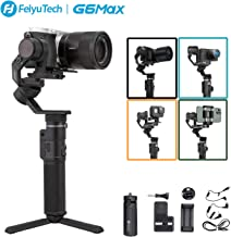 FeiyuTech G6max Camera Gimbal Stabilizer for Mirrorless Camera/Action Camera/Pocket Camera/Smartphone,for Sony a6300/a6500 Canon EOS 200D Panasonic,GoPro Hero 8 7 6 5 SJcam YI 4K, iPhone payload 2.4lb