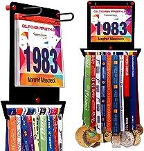 VICTORY HANGERS Medaille Hanger voor lopers   Mijn overwinningen Race Bib Houder + Medaille Rack   Complete Bundel Stalen ...