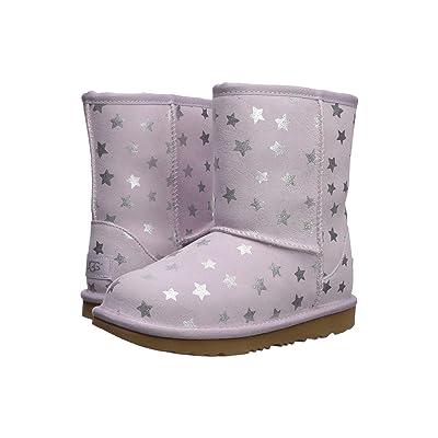 UGG Kids Classic Short II Stars (Little Kid/Big Kid) (Lilac) Girls Shoes