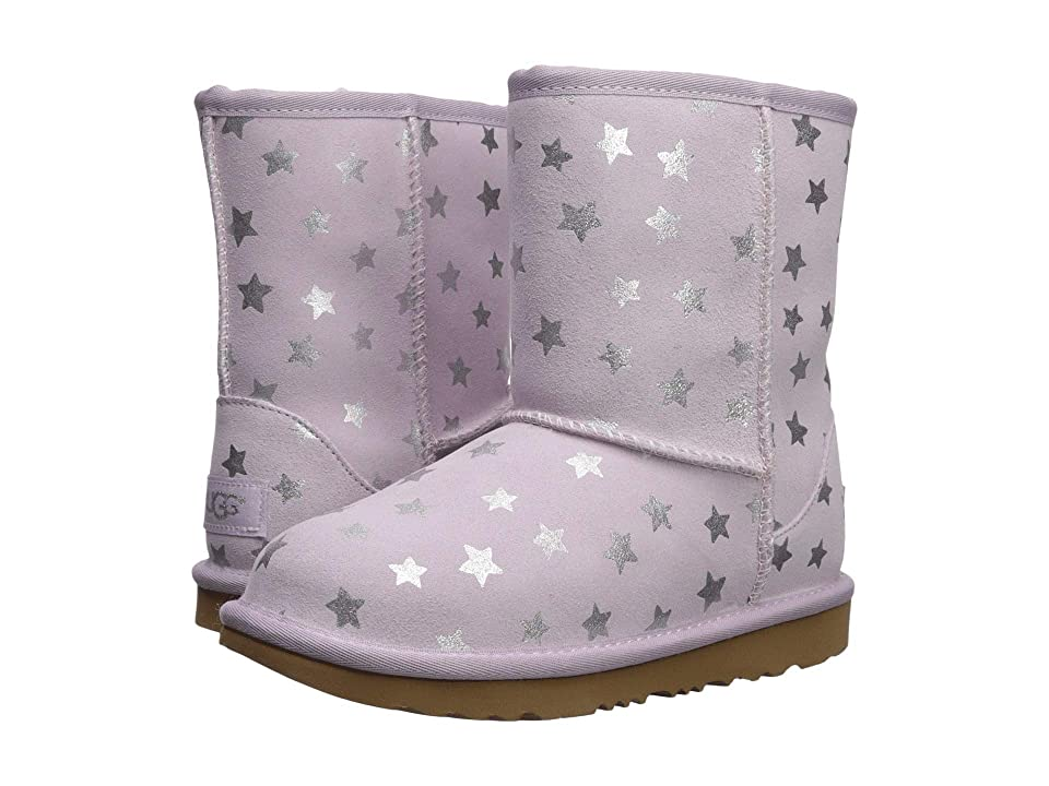 UGG Kids Classic Short II Stars (Little Kid/Big Kid) (Lilac) Girls Shoes