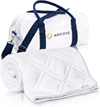 "Aricove Cooling Weighted Blanket for Adults, 15 lbs, 48""x72"", Certified Premium Soft Bamboo in White Color, Luxury Quality..."