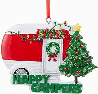Kurt Adler Happy Campers Caravan Christmas Ornament, Red