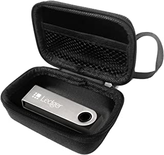 FitSand (TM) Ledger Nano S Cryptocurrency Hardware Wallet Case, Travel Zipper Carry EVA Hard Case Best Protection