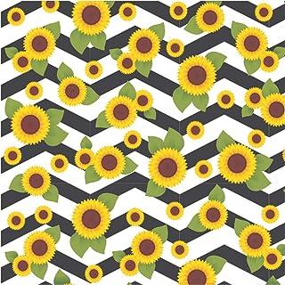 Tnt Estampado 1, 40m 40g Floral Girassol - Rolo, Supper, 1127-A, Multicolorido