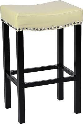 Stupendous Amazon Com Acme Lewis Bar Stool Set Of 2 White Pu And Uwap Interior Chair Design Uwaporg