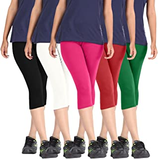 Rooliums Women'S Multicoloured Shorts(Hrcapri5Bwprg_Multicoloured_Free Size)