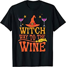 Witch Way To The Wine Funny Halloween T Shirt