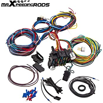 Amazon.com: maXpeedingrods 21 Circuit Wiring Harness Wires 17 Fuses kit for  Chevy Mopar Ford Hotrod Chrysler Extra Long Wires Universal: AutomotiveAmazon.com