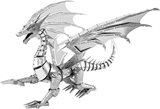 Fascinations Metal Earth ICONX Silver Dragon 3D Metal Model Kit