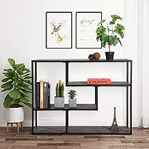 FurnitureR Librerías industriales de 4 Niveles con Marco de Metal, estantería Vintage Abierta Etagere, estanterías multifu...