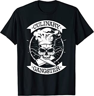 Culinary Gangster Skull Chef T Shirt Cool Cooking Guru Gift