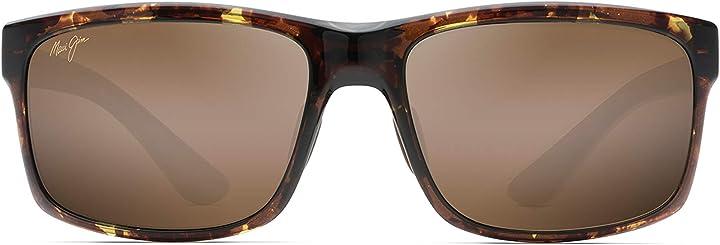 Occhiali da sole - maui jim h439-15t occhiali, tortuga, 58/17/139 uomo