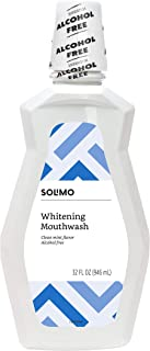 Best Amazon Brand - Solimo Whitening Mouthwash, Alcohol Free, Clean Mint, 32 Fluid Ounces, Pack of 1 Review