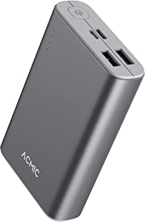 Power bank ACMIC powercore 10000mAh mini portable pd fast charging 18w delivery, Slim power bank pd fast charging USB C 18...