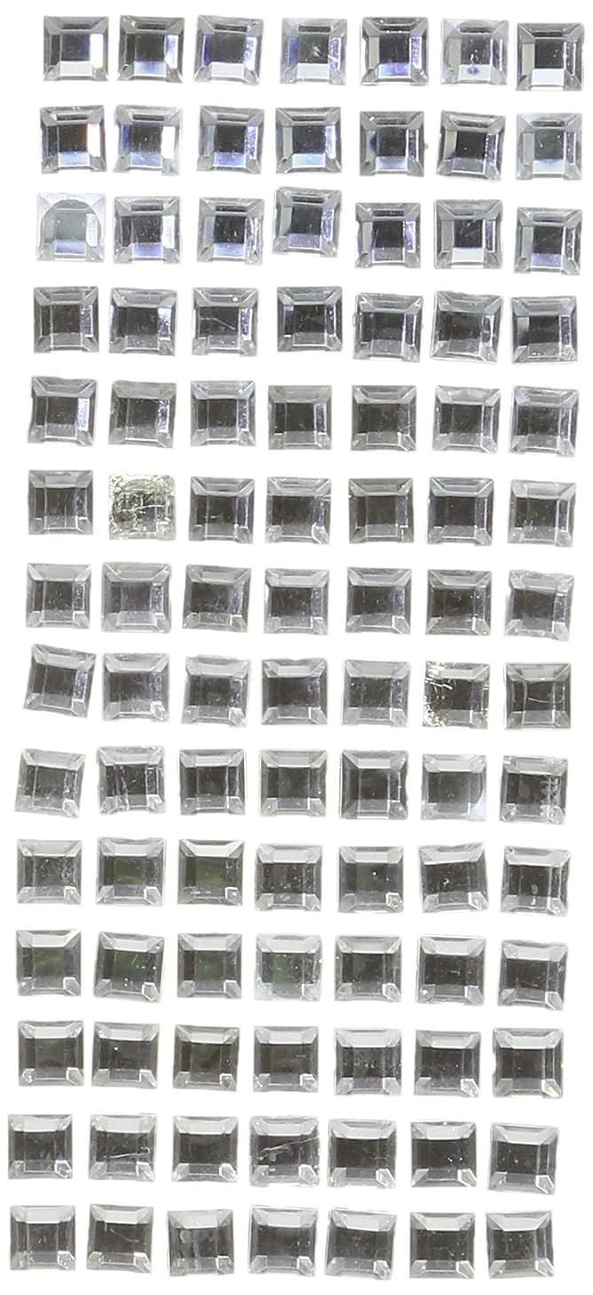 Darice DT2517 David Tutera Adhesive Rhinestones, Square, Silver/Clear, 8mm, 98 Per Pack