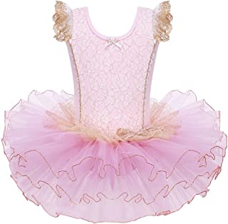Leotards for Girls Ballet Dance Tutu Skirted Princess Dress 3-8 Years