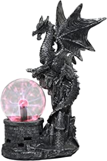 Ebros Wizards Dungeons and Dragons Saurian Dragon Electric Plasma Ball Lamp Statue 14