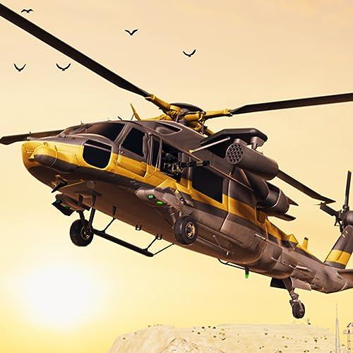 エアストライクガンシップバトルヘリコプター戦闘フライトシミュレータ3D:無料サバイバルゲームのルールで戦争の翼の偉大な冒険