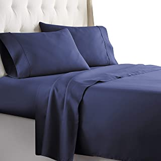 Best Hotel Luxury Bed Sheets Set 1800 Series Platinum Collection Softest Bedding, Deep Pocket,Wrinkle & Fade Resistant (Twin, Navy) Review