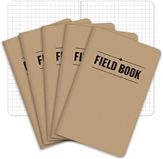 "Field Notebook/Pocket Journal - 3.5""x5.5"" - Kraft - Graph Memo Book - Pack of 5"