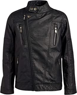 URBAN REPUBLIC Boy's Faux Leather Motorcycle Biker Jacket