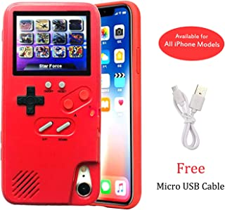 Gameboy Case for iPhone 11 Pro, Chu9 Retro 3D Playable Gameboy Cover Case with 36 Classic Games, Handheld Color Screen Video Game Console Case for iPhone (Red, iPhone 11 Pro)
