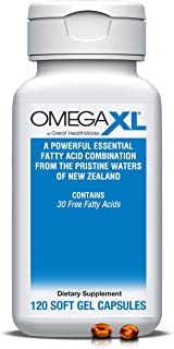 OmegaXL 120 Softgels - Green Lipped Mussel New Zealand, Omega 3 Natural Joint Pain Relief & Inflammation Su...