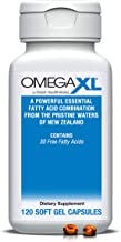Omega XL 120 Capsules - Green Lipped Mussel New Zealand, Omega 3 Natural Joint Pain Relief & Inflammation Supplement