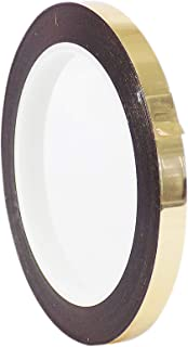 WOD MMYP-1 Gold Metalized Polyester Mylar Film Tape with Acrylic Adhesive (Available in Multiple Colors & Sizes): 3/8 in. x 72 yds. Excellent Chemical and Thermal Stability.