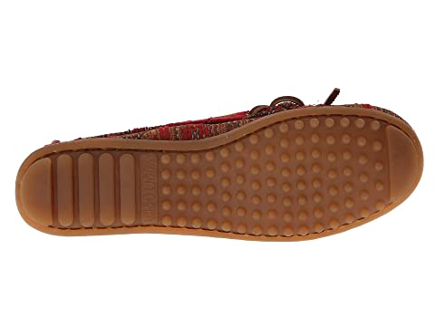 Minnetonka Baja Moc Black Fabric