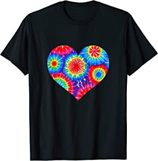 Tie Dye Floral Heart Valentine' Day Matching Couple Shirt