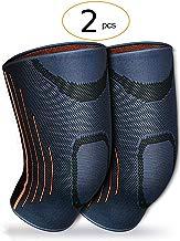 [lote de 2] lavF - Rodillera de compresión, apoyo óptimo de la rodilla, para hombres y mujeres