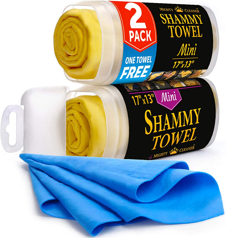Premium Mini Chamois Cloth for Car Shammy - National uniform free shipping Superlatite Bonus +1 2pack T