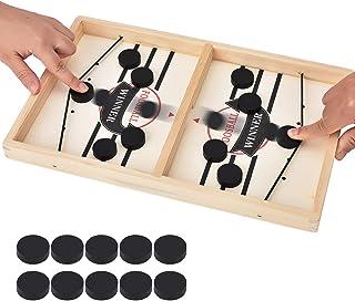 Hölzernes Hockeyspiel Tischspiel Familienspaßspiel für Kinder Kinderspielzeug