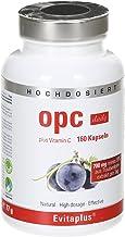 OPC DAILY OPC Extracto de Semilla de Uva – 160 cápsulas de OPC 700 mg diario veganas y concentradas. OPC puro + Vitamina C – 100% antioxidante natural, Calidad Premium