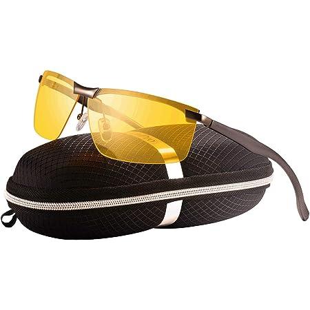 Hd Nachtsichtbrille Autofahrer Brille Nachtsicht Anti Glanz Nachtfahrbrille Fahrer Auto Rahmen Metallic Farbe Linsen Gelbe Bekleidung