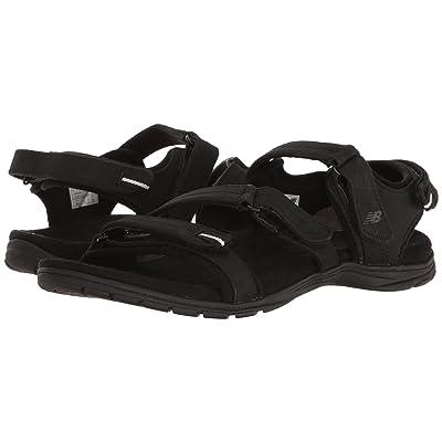 New Balance Maya Leather Sandal (Black) Women