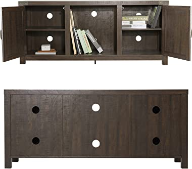 """Allewie Farmhouse TV Stand, 58"""" Entertainment Center with Storage Cabinet, TV Console for TVs Up to 65"""" with 3-Tier A"""