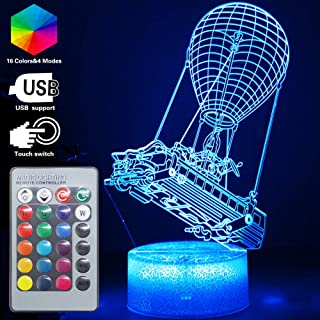 Batttlebus Game Room Night Lights Lamp 3D Vision Effect LED Night Light Desk Table Light Remote Control & 16 Colors Birthday Holiday Gift Ideas Decorations for Boys Teen Boyfriends(Battlebus(Remote))