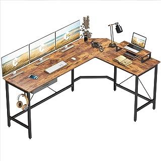 CubiCubi L-Shaped Desk Computer Corner Desk, Home Office Gaming Table, Sturdy Writing Workstation...