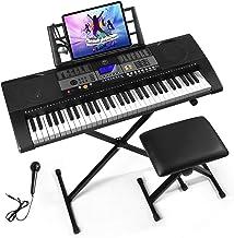 Mustar 61 Full Size Touch Keys Piano Keyboard, Portable Elec