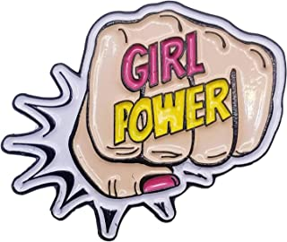 Girl Power Enamel Lapel Pin Fist Bump Pink feminism future is female